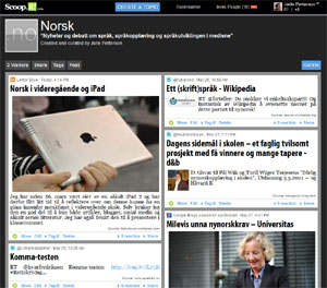 Norsk på Scoop.it