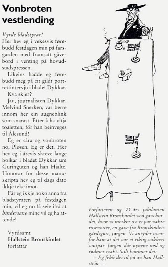 Vonbroten vestlending -- Hallstein Bronskimlet d.a.y.