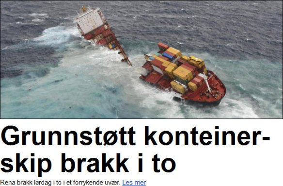 Konteinerskip hos Dagbladet.no