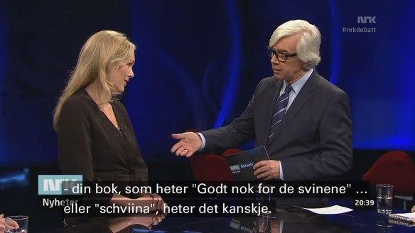 """Anita Krohn Traaseth og Ole Torp i """"Aktuelt"""""""