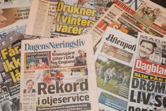 Norske aviser. Fotograf: Jon S/Flickr.